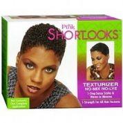 Pink ShortLooks Hair Texturizer Kit No-Lye