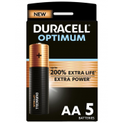 Duracell Optimum Alkaline AA batterijen 5 stuks