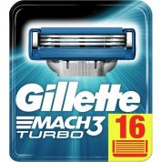 Gillette Mach3 Turbo Razor Blades 16pcs