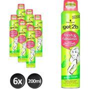 Schwarzkopf Got2b Fresh & Fabulous Extra Fresh Droogshampoo - Voordeelverpakking 6x200ml