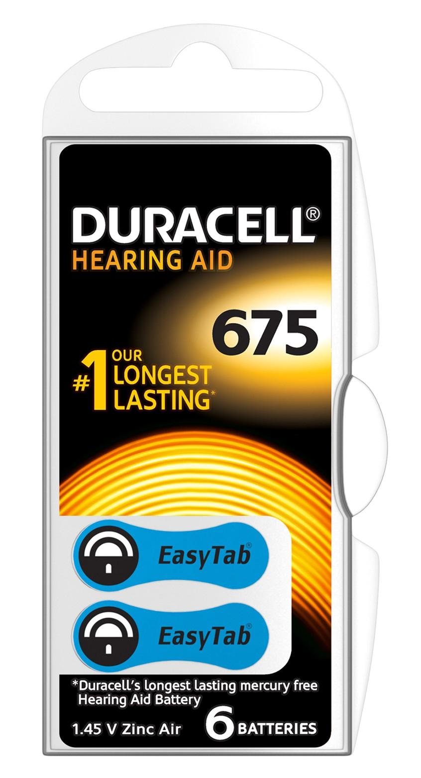 Duracell Hearing Aid 675 Batterij 6st