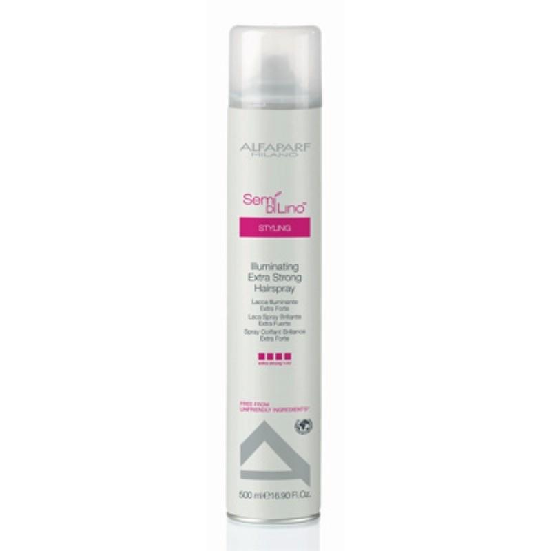 Alfaparf Semi Di Lino Illuminating Extra Strong Hairspray 500 ml