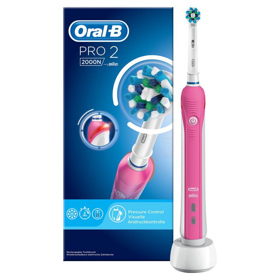 Oral-B elektrische Tandenborstel Pro 2 2000 CrossAction Pink
